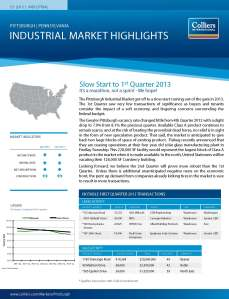 Q1 2013 Pittsburgh Industrial Market Report